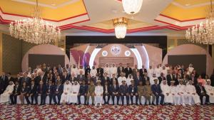Deputy Director-General, Mr Hamid Ali Rao (front, centre) and participants at the International Conference on Chemical Disarmament and Security: The OPCW's Contributions to Global Peace and Security, which was held in Doha, Qatar, from 10-11 April.