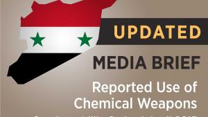 UPDATED Media Brief: Reported Use of Chemical Weapons, Southern Idlib, Syria, 4 April 2017