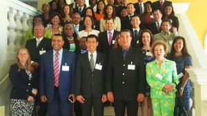 Participants at a OPCW 20th anniversary event held in Montego Bay, Jamaica