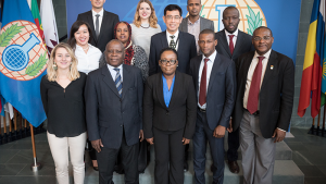 Participants from the Internship Programme for Legal Drafters and National Authority Representatives held in The Hague from 7 to 11 August