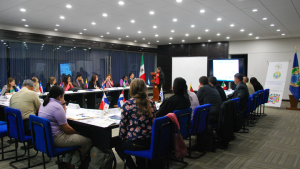 Chemistry professionals at a seminar on chemical safety and security management for chemical industry in Mexico