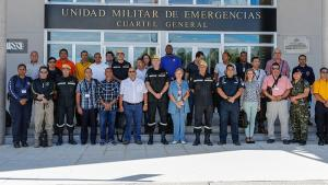 Emergency response trainers at a specialist course at the Spanish National NBC Defence School in Madrid, Spain from 25 September-4 October 2017.