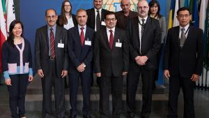 Iraqi officials at a National Legal Workshop held at the OPCW Headquarters