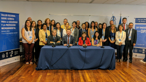Member States from Latin America and the Caribbean (GRULAC) at a workshop on Chemistry for Safety, Security and Environmental Protection in Buenos Aires