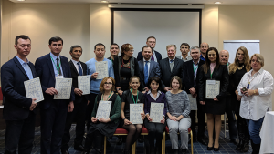 Participants at a Training Workshop in Russian on the Best Practices for Developing the Responsible Care® Programme for the Chemical Industry