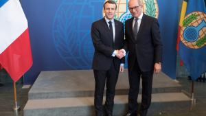 The President of the French Republic, H.E. Mr Emmanuel Macron, met with the Director-General of the OPCW, Ambassador Ahmet Üzümcü