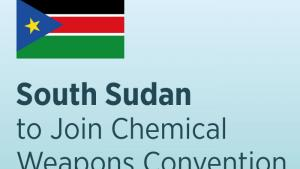 South Sudan to Join Chemical Weapons Convention