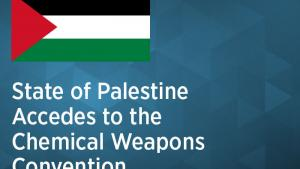 The State of Palestine deposited on 17 May 2018 its instrument of accession to the Chemical Weapons