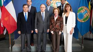 A delegation from Chile visiting the OPCW