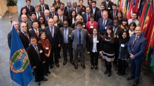 Participants at the Forum on the Peaceful Uses of Chemistry, held at the OPCW Headquarters