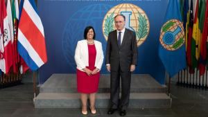 The Director-General of the Organisation for the Prohibition of Chemical Weapons (OPCW), H.E. Mr Fernando Arias, and the Vice Minister of Foreign Affairs and Worship of Costa Rica, H.E. Ms Lorena Aguilar, met today at the OPCW Headquarters in The Hague