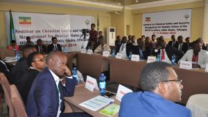 Chemistry professionals from across Africa advanced their capabilities to implement the industry-related provisions of the Chemical Weapons Convention following a workshop on chemical safety and security management in Addis Ababa, Ethiopia