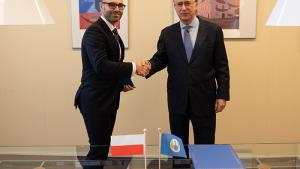 Permanent Representative of Poland to the OPCW, H.E. Mr Marcin Czepelak, and OPCW Director-General, H.E. Mr Fernando Arias