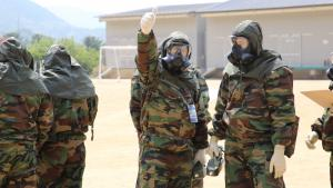 First responders during a regional basic training course in Seoul