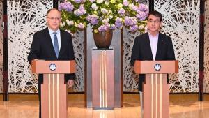 OPCW Director-General, H.E. Mr Fernando Arias, and Japan's Minister of Foreign Affairs, Taro Kono