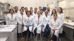 Analytical chemists from Latin America and the Caribbean during a analytical chemistry course in Madrid, Spain