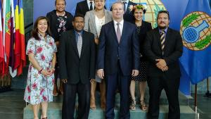 Representatives of the Solomon Islands, Tonga and Tuvalu participated in the 22nd session of the Internship Programme for Legal Drafters and National Authority Representatives