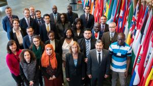 Representatives of National Authorities during a Mentorship/Partnership Programme workshop held at OPCW Headquarters