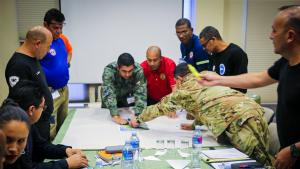 First responders from the Latin America and the Caribbean region further expanded their skills in managing chemical emergencies at a regional table-top exercise