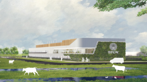 Preliminary design rendering of the OPCW ChemTech Centre