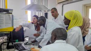 Participants at training as part of OPCW Africa Programme