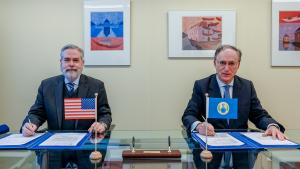 H.E. Mr. Joseph Manso, Ambassador Extraordinary and Plenipotentiary of the United States of America, and H.E. Mr. Fernando Arias, Director-General of the OPCW