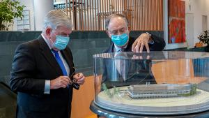 H.E. Mr. Jan van Zanen, Mayor of the Municipality of The Hague,  and H.E. Mr. Fernando Arias, Director-General of the OPCW
