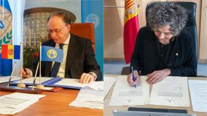 H.E. Mr Fernando Arias, Director-General of the OPCW and H.E. Mrs Esther Rabasa Grau, Permanent Representative of Andorra to the OPCW